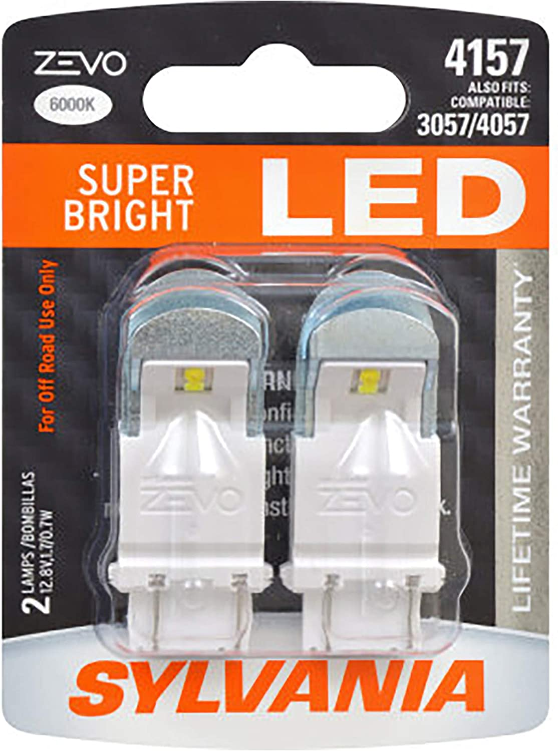 and Back-Up//Reverse Lights 3157 Long Life Miniature Ideal for Daytime Running Lights SYLVANIA DRL Contains 2 Bulbs Bulb