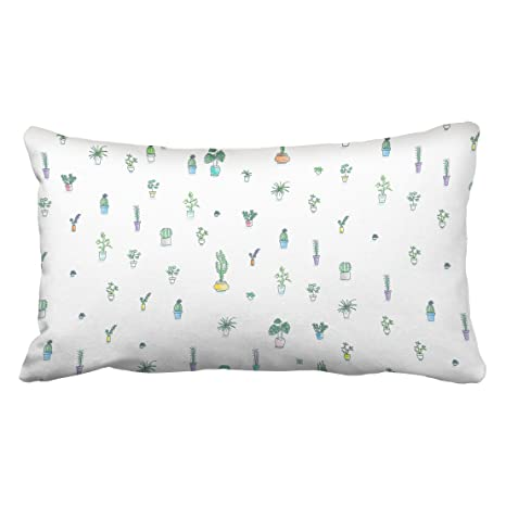 accrocn fundas de almohada, diseño de cactus flor dibujo a ...