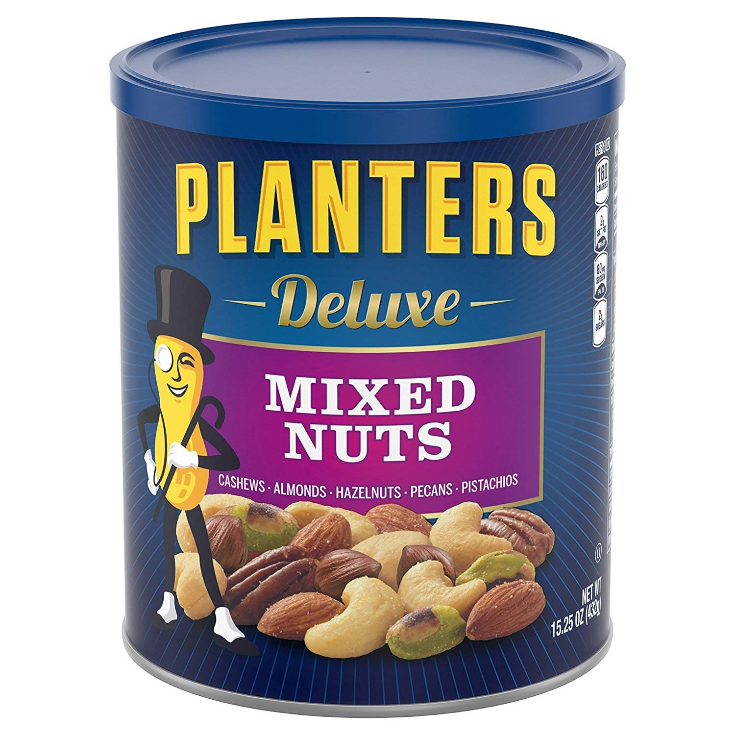 Planters Deluxe Mixed Nuts, 3 Tubs (15.25 Ounce)