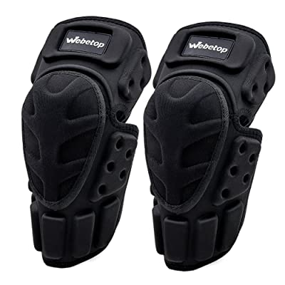 Webetop Motorcycle Knee Pads Adult 1 Pair High-Impact Shield-Resistance Flexible Breathable Adjustable Aramid Fiber +EVA Motocross MTB Shin Guards for Riding Cycling Skating: Automotive