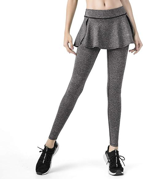 MEESU Leggings con Falda Deportiva para Mujer Tenis de Cintura ...
