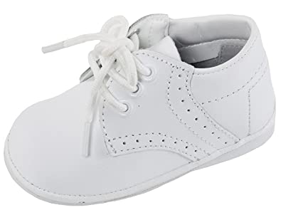 Image Unavailable. iGirldress Baby Boys Oxford Christening Shoes White ... a54075da5fad