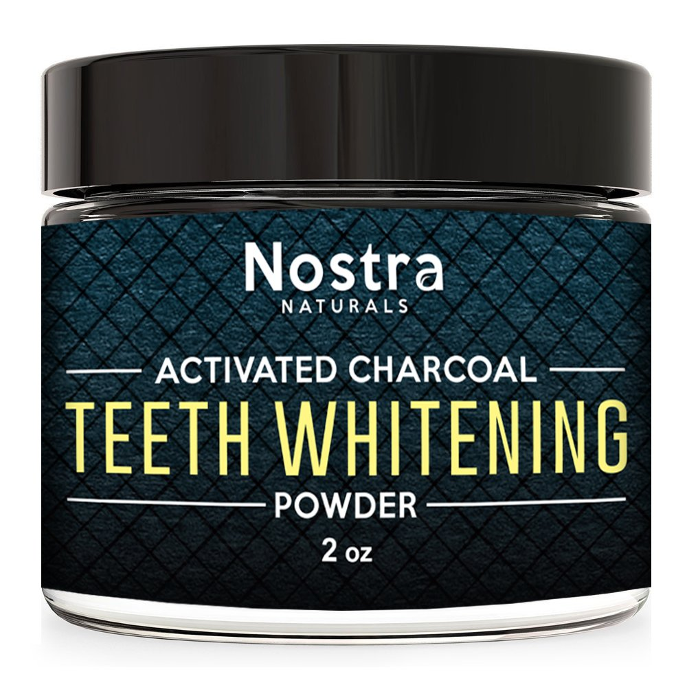 Activated Teeth Whitening Charcoal Powder - Best Activated Charcoal Tooth Whitener - Made in USA - Perfect for Healthier, Whiter Teeth the Natural Way - Mint Flavor.