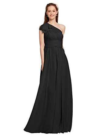80e5b1f553e AWEI Black Bridesmaid Dresses Chiffon Long Petite Prom Dress 2018 Maxi  Formal Dress for Women