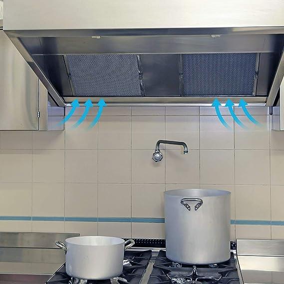 Filtro de Grasa para Campana Extractora cocina Cooke & Lewis de Cocina por Poweka (Plata, 320 x 260 mm, 2 Piezas): Amazon.es: Grandes electrodomésticos
