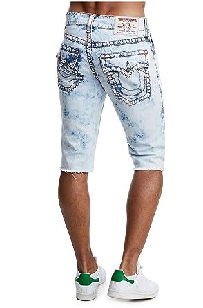 9633dac91 True Religion Men s Straight Leg Big T Denim Cut-Off Shorts w Flaps ...