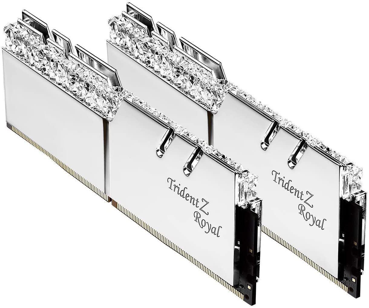G.Skill 16GB DDR4 Trident Z Royal Silver 3200Mhz PC4-25600 CL16 1.35V Dual Channel Kit (2x8GB)