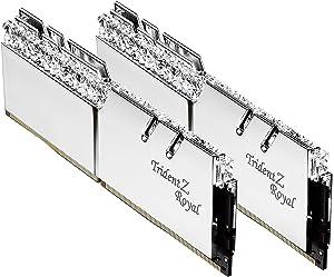 G.SKILL 16GB (2 x 8GB) Trident Z Royal Series DDR4 PC4-32000 4000MHz Desktop Memory Model F4-4000C17D-16GTRS