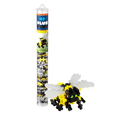 PLUS PLUS – Mini Maker Tube – Bumble Bee – 70 Piece, Construction Building STEM | STEAM Toy, Interlocking Mini Puzzle Blocks for Kids: Toys & Games