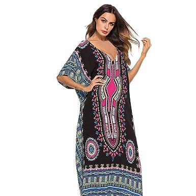 OPAKY Vestido de Las Mujeres de Impresión de Moda de Ocio Vestido ...