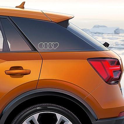 Autodomy Pegatinas Compatible con Audi Aros Corazón Pack 2 ...