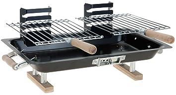 chiccie BBQ Pequeño – Parrilla para mesa – 44 cm x 27 cm Barbacoa de carbón
