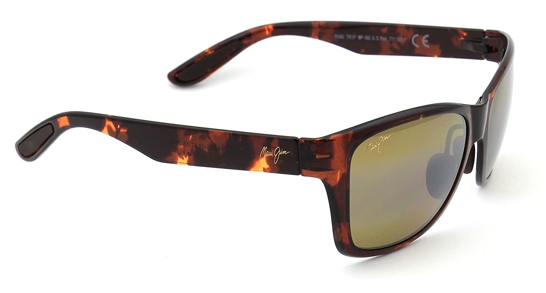Polarized HCL Bronze Lens Maui Jim H435-10 ROAD TRIP Sunglasses Tortoise Frame