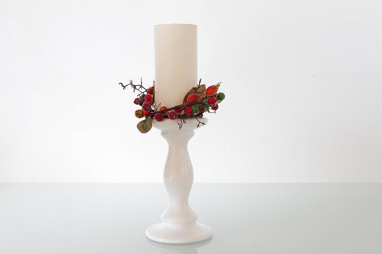 Weihnachten Stumpenkerze Set von Obst und Beeren–NEUE für 2015