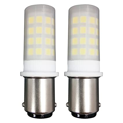 MZMing [2 Unidades] Multiparticulado B15 LED Bulbo 4W Bombillas Nevera - Dimmable 6000K Blanca
