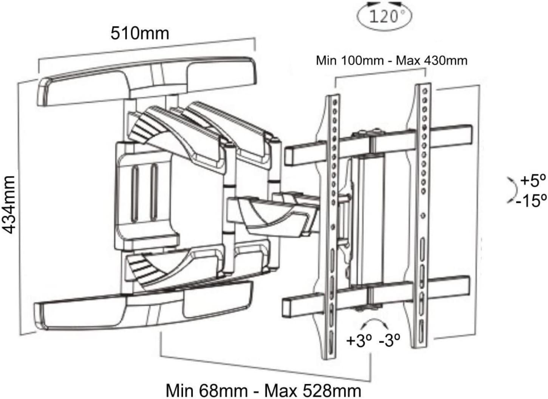 Intecbrackets – curvado Protector de basculante y inclinación soporte de pared para televisor diseñado especialmente para televisores de pantalla curvada 40