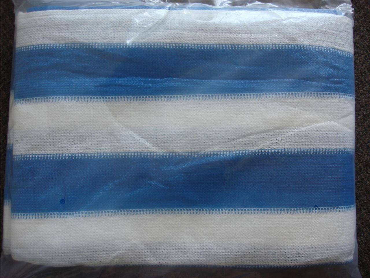 14X20 White blue Shade Net Mesh Screen Garden Patio RV Nursery Canopy Sun Tarp