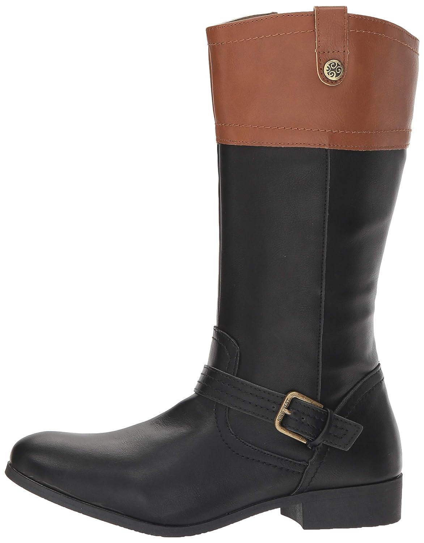 Nine West Girls EMILIAH Equestrian Boot M080 M US Toddler 9WS10054T Black//tan