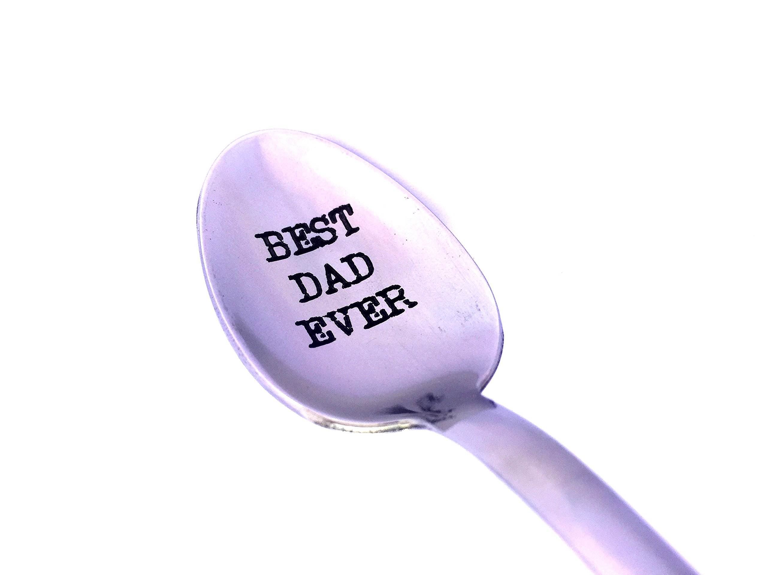 "Best Dad Ever Engraved Spoon by Weenca-Laser Engraved ""Best Dad Ever"" Stainless Steel Spoon-Dad Gifts – Father Day Gifts by Weenca (Image #3)"