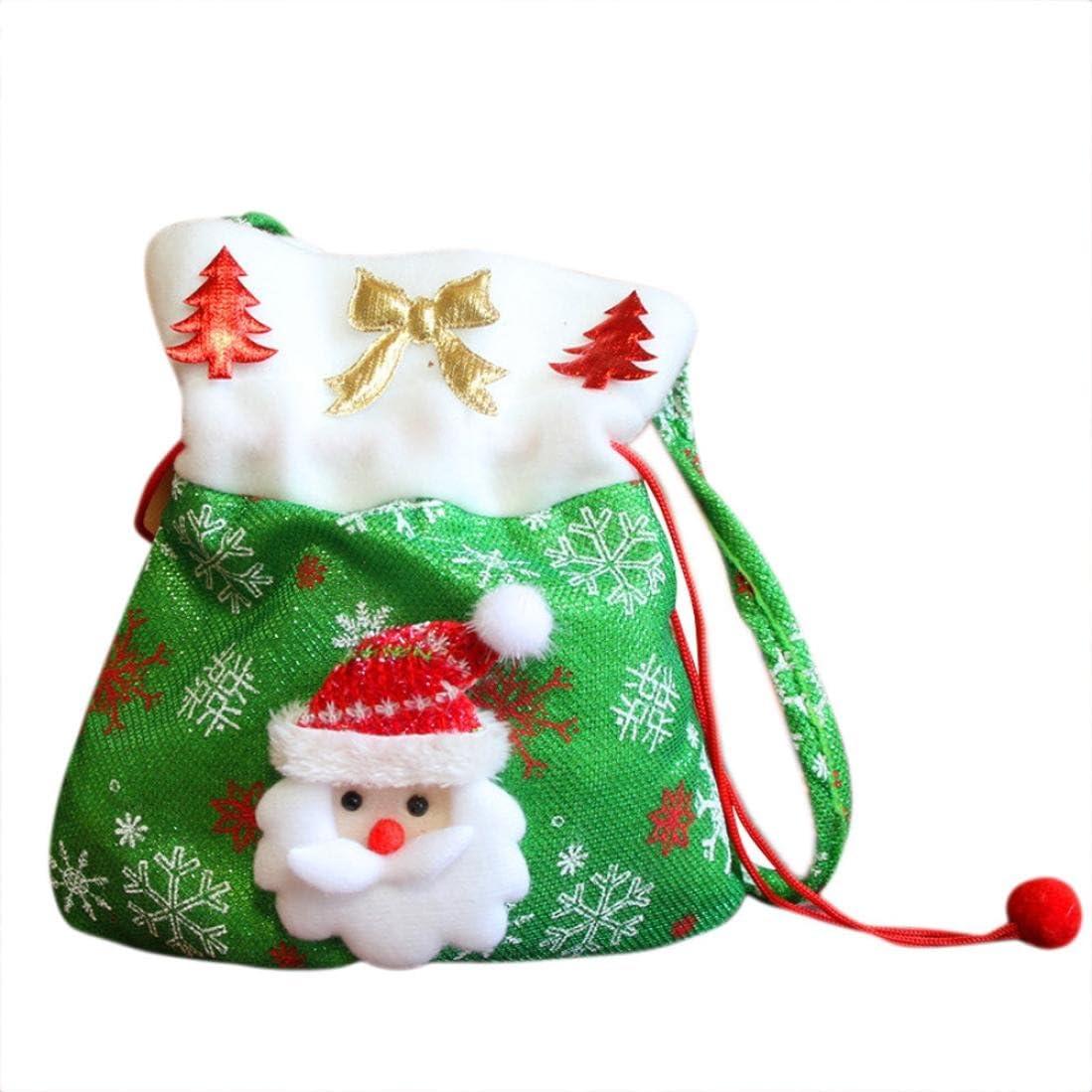 24cm Ouneed/® Noel Pochette Bonbon Cadeau 20 Vert