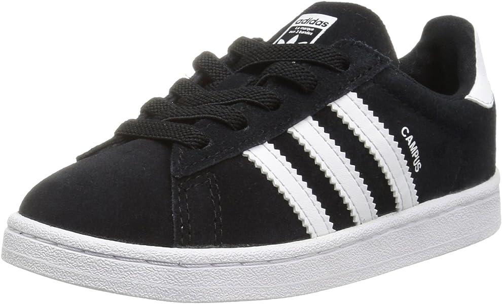 best service d3717 91ce9 adidas Performance Boys  Campus EL I Sneaker, Black White White, 4 Medium  US Toddler  Amazon.co.uk  Shoes   Bags
