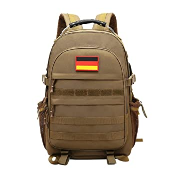 0e2460f4f85fb JOTHIN Taktischer Rucksack Herren Sport Backpack Outdoor Tagesrucksack  Wasserdicht Armyrucksack Oxford-Tuch Rucksäcke mit USB