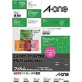 A-one 艾文 标签贴[激光印刷] 透明压膜型 レーザー 透明ツヤ消し 12面角丸10枚 透明ツヤ消し