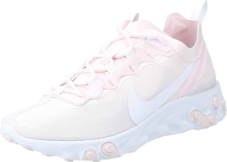 Nike Women's React Element 55 Pale Pink/White Sneakers 9.5 71ZsV5ykDDLUL1500_