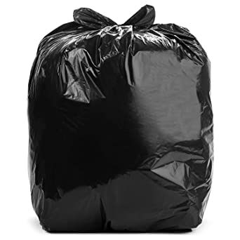 Aluf Plastics 20 30 Gallon Trash Bags 100 Count 1 1 Mil Equiv Low Density Plastic Garbage Bags W Antimicrobial Odor Protection 30 By 36 For Home Kitchen Office Commercial Industrial Black