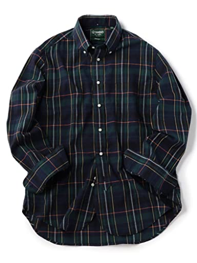 Check Buttondown Shirt 111-13-5537: Green
