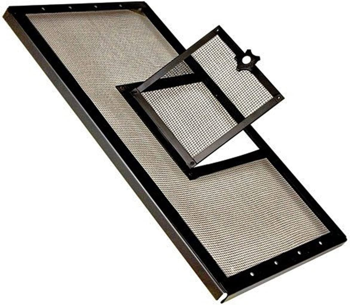 Zilla R SRZ100011875 Fresh Air Screen Cover with Hinged Door for Pet Cages, 30-1/4 by 12-7/8-Inch, Black