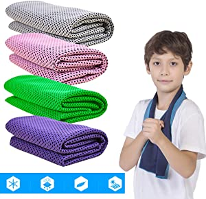 HI FINE CARE Cooling Towel Microfiber Towel for Instant Cooling Relief Ultra Thin Lightweight Design for Fitness and Exercise, Gym, Yoga, Sports, Pilates, Travel, Running and Hiking