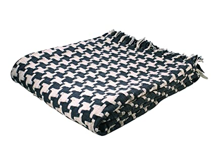 Amazon Split P Houndstooth Throw Blanket Gray And Natural Custom Black And White Houndstooth Throw Blanket