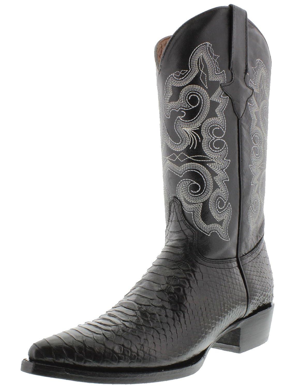 Legado del equipo West Texas Legacy - Pitón negro pitón con estampado de hombre  Botas cowboy J Toe Negro 7af1b2c03b4