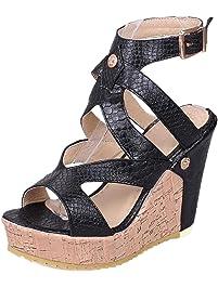 Womens Platform Amp Wedge Sandals Amazon Ca