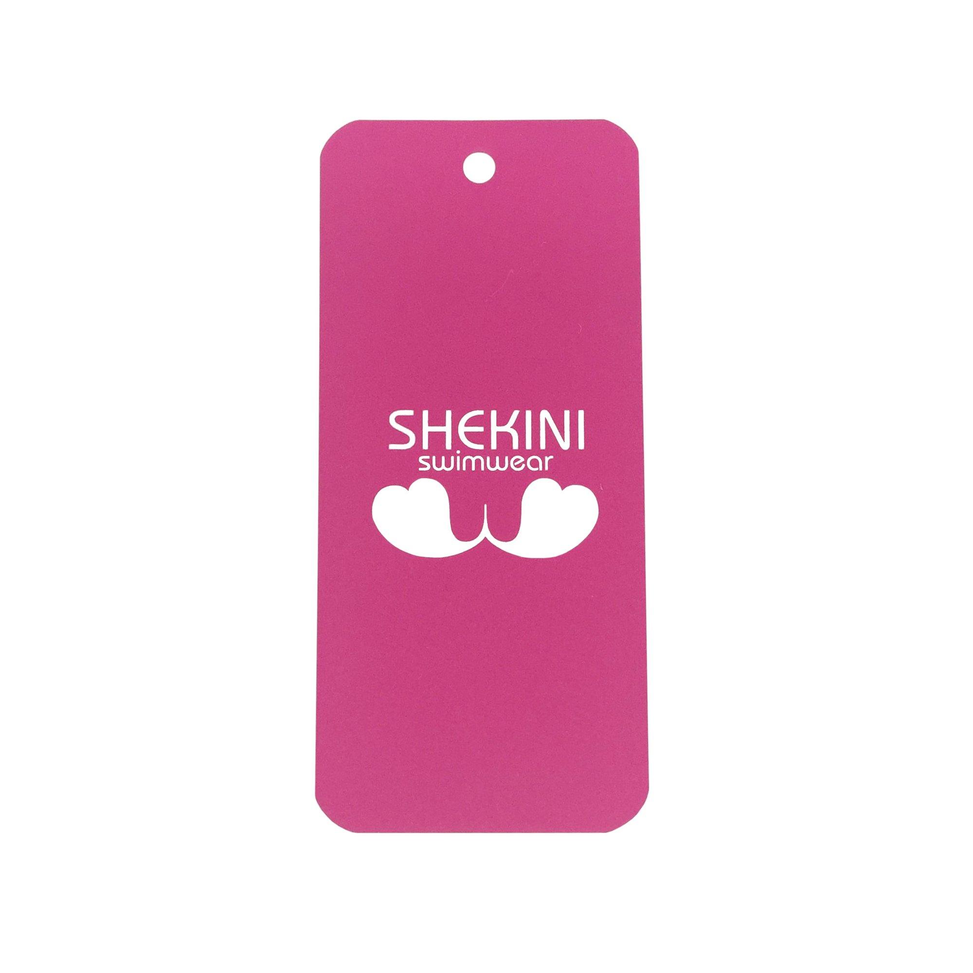 SHEKINI Womens Bathing Suits Floral Printing Swim Bottoms Padded Halter Bandage Bikini Two Piece Swimsuits (Medium, Wine Red) by SHEKINI (Image #7)