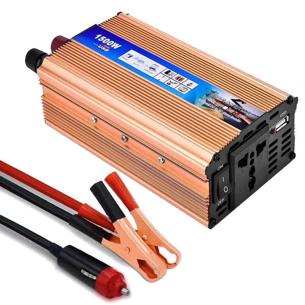 Inversor de Corriente 650 1500W,Lacyie Transformador 12V a 220V ...