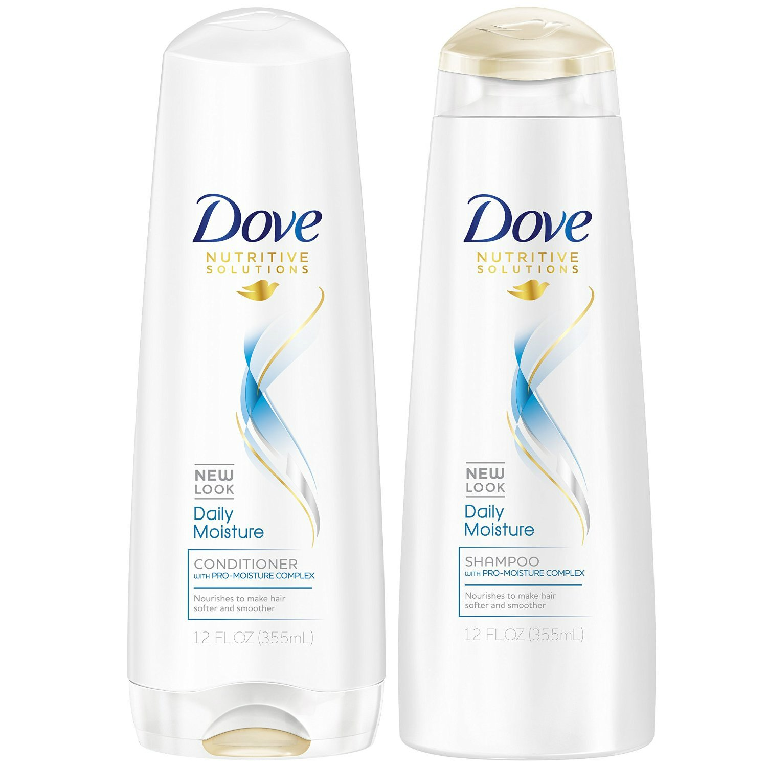 Dove Daily Moisture Shampoo and Conditioner 12oz Combo SET **Package May Vary**