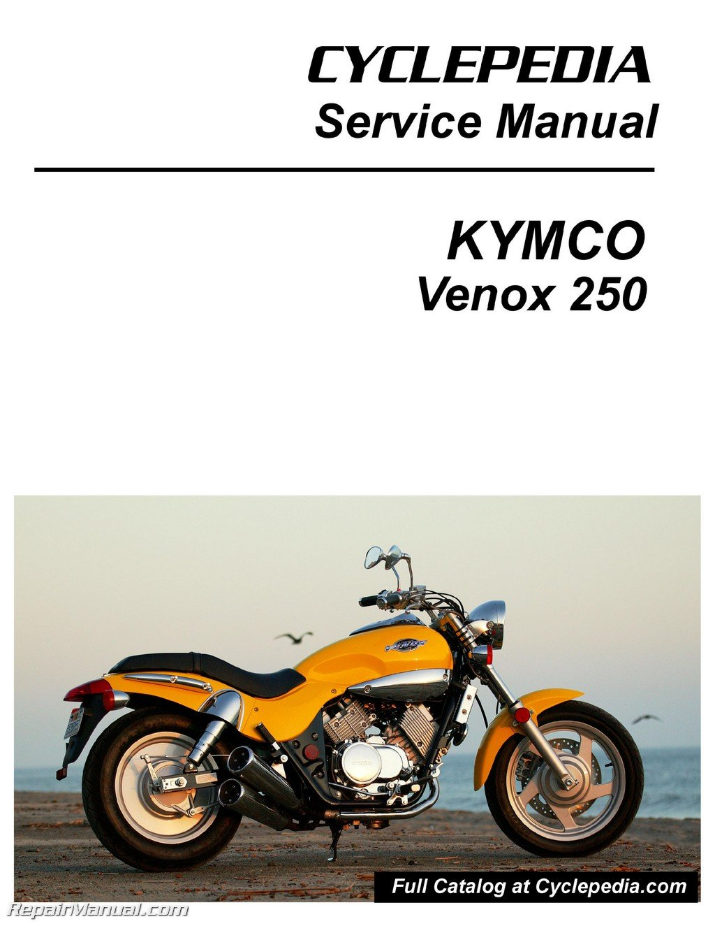 Cpp 221 Print Kymco Venox 250 Service Manual Printed By Cyclepedia 2008 Wiring Diagram Manufacturer Books
