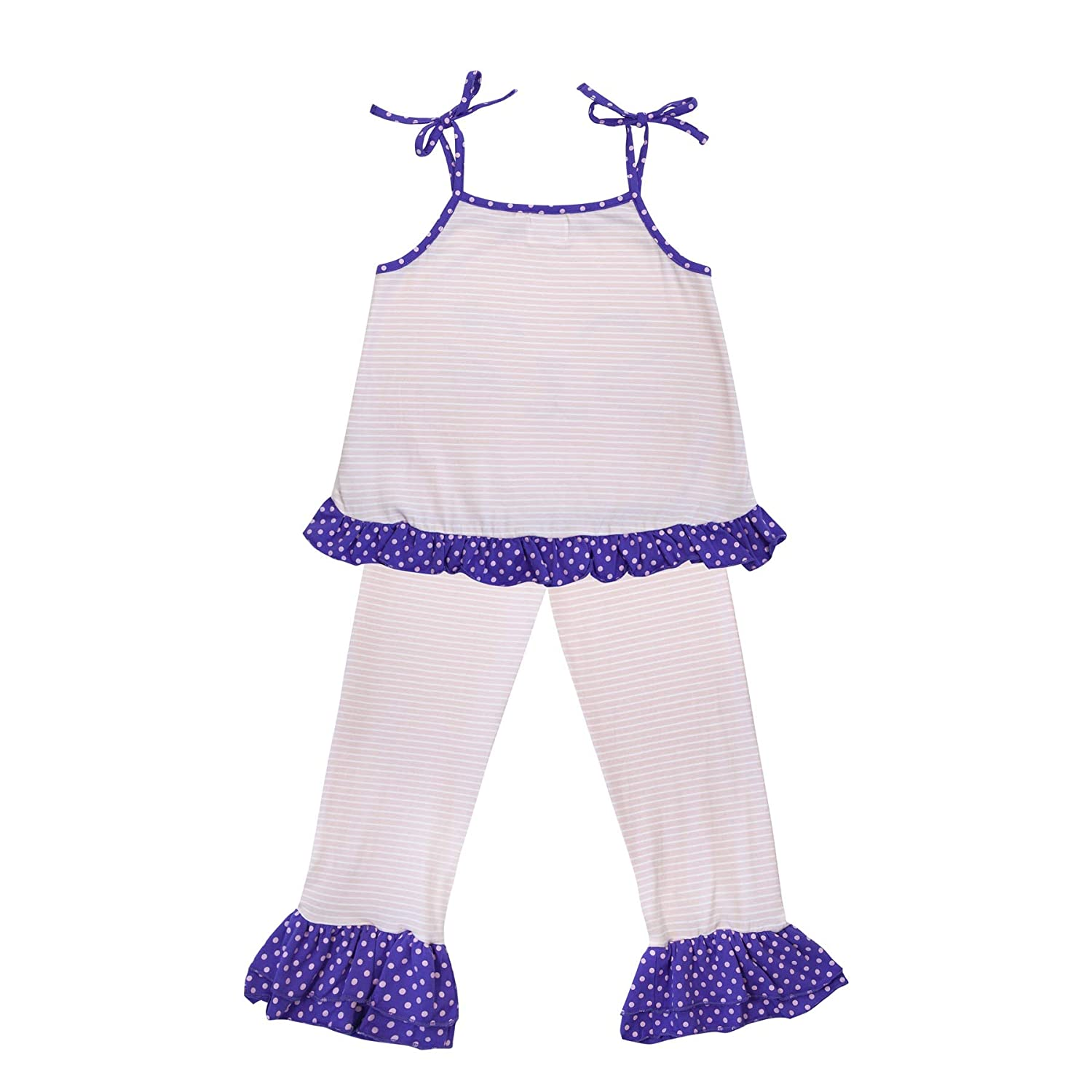 Parya Kitty Top with Spaghetti Straps and Leggings Set for Girls
