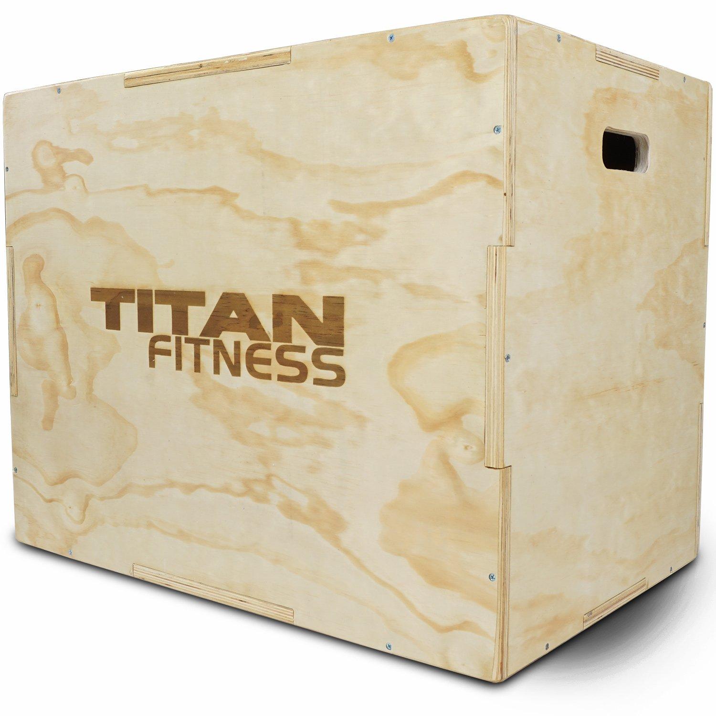 Titan Fitness 20'' 24'' 30'' Wood Plyometric Box HD Plyo Box Jump Exercise Training