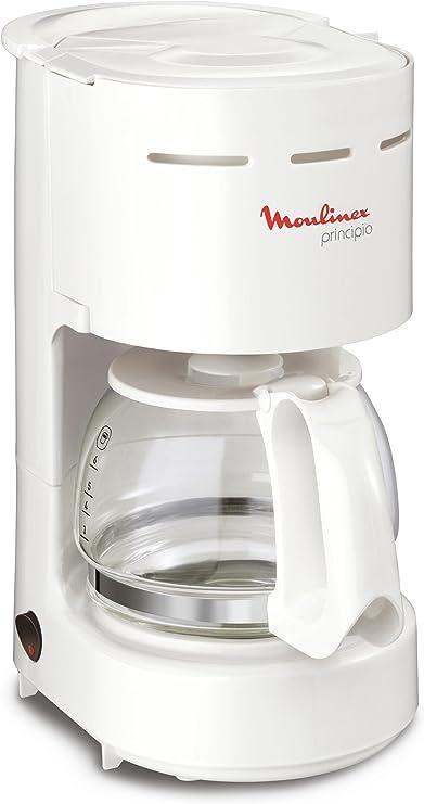 Moulinex Cafetera Filtro principio compacta blanco 6 tazas: Amazon ...