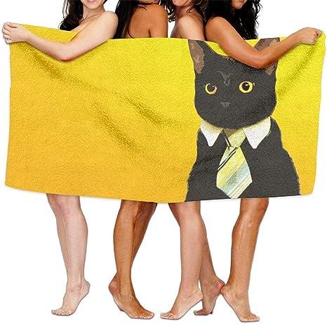 Toallas de playa para gato, color negro, toallas de baño para adolescentes, adultos, toalla de viaje para piscina y gimnasio, uso de 31 x 51 pulgadas, toalla de baño unisex: Amazon.es: Juguetes