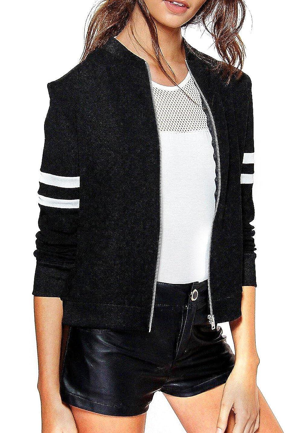 Xiang Ru Sport Stil-Damen Mädchen Sweatjacket College Outwear Jacke, Langärmelig Langärmelig XRU161220A365