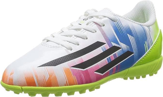 Adidas F5 TRX TF J (Messi) - Botas para niño, Multicolor