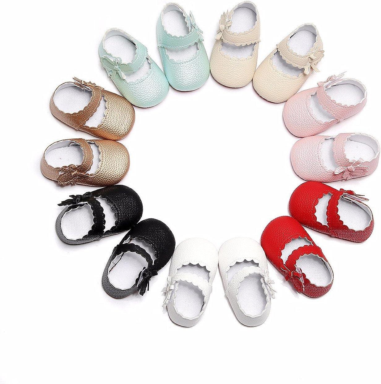 manadlian Chaussures B/éb/é B/éb/é Fille Chaussures en Cuir despadrille Anti-d/érapant B/éb/é Semelle Souple