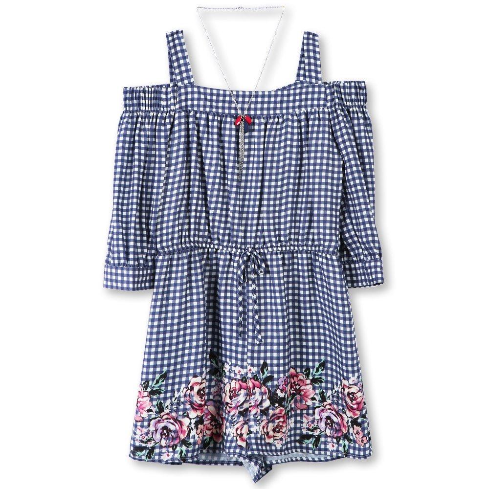 6de349c6084 Amazon.com  Speechless Girls  Big Shoulder Romper  Clothing