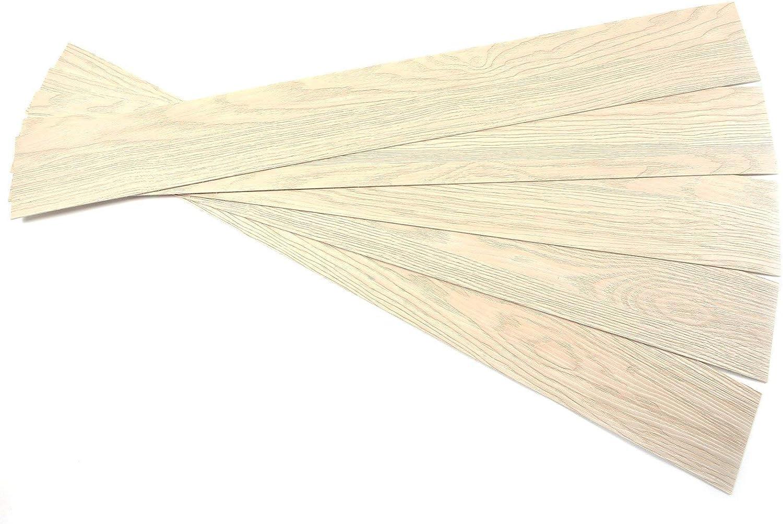 ROSEROSA Peel and Stick Engineered Polypropylene Floor Plank Oak Wood Pattern Durable Flooring (ECK-704 : 5 Planks)