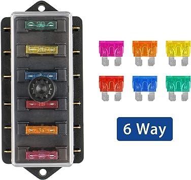 Linkstyle Caja de portafusibles de 6 vías Bloque de la Caja de ...