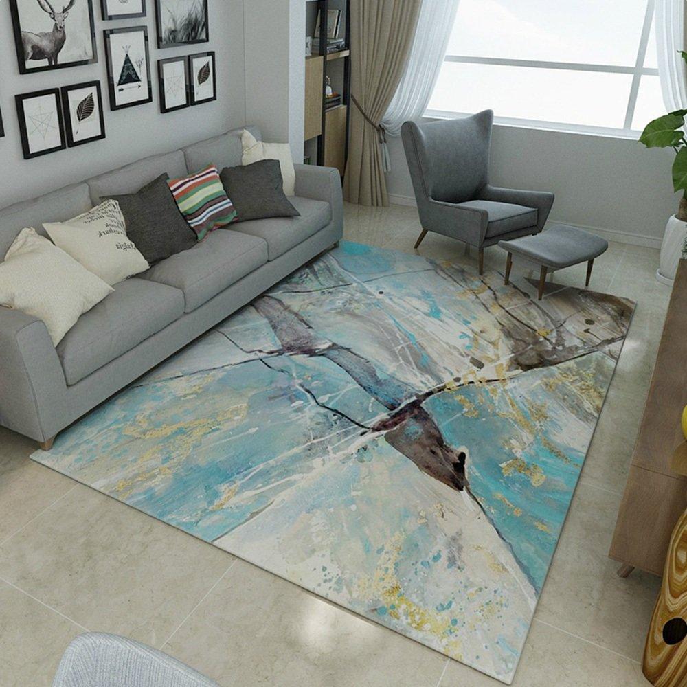 ZZHF カーペット長方形のインクカーペットリビングルームコーヒーテーブルベッドルームラグ9色オプションのオプション カーペットの下敷き ( 色 : F f , サイズ さいず : 120*160cm ) 120*160cm F f B07BHLJGG6
